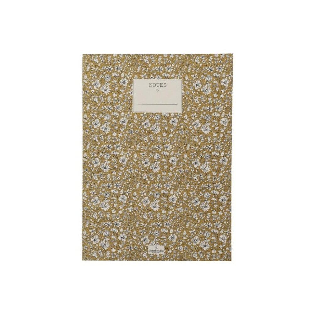 Zápisník A Simple Mess Nynne Golden Yellow, 25×18 cm
