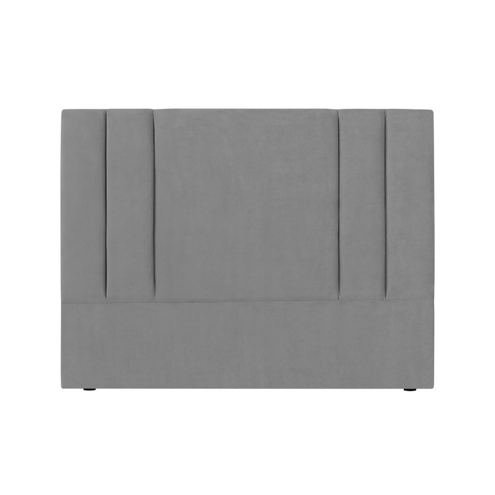 Sivé čelo postele Kooko Home Kasso, 120 × 160 cm
