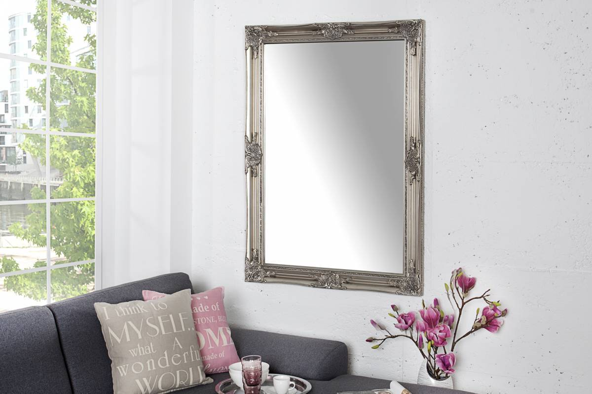 Nástenné zrkadlo RENESANCE 105 cm - strieborná