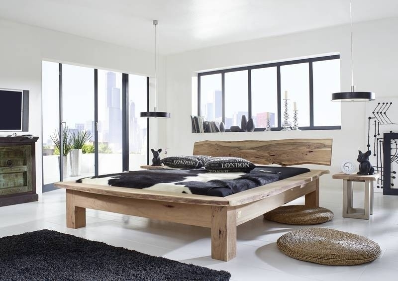 FREEFORM posteľ #125 200x200cm agátový nábytok