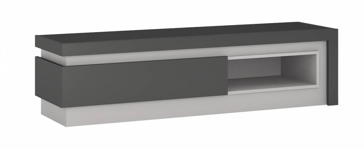 LYNO F02 televízny stolík 1S, lyon tmavý