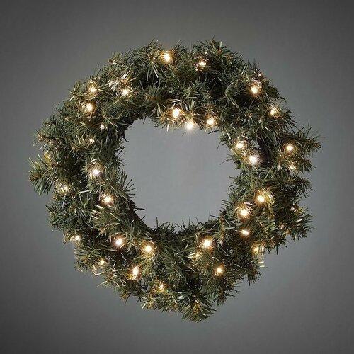 Vianočný jedľový veniec pr. 45 cm, 40 LED