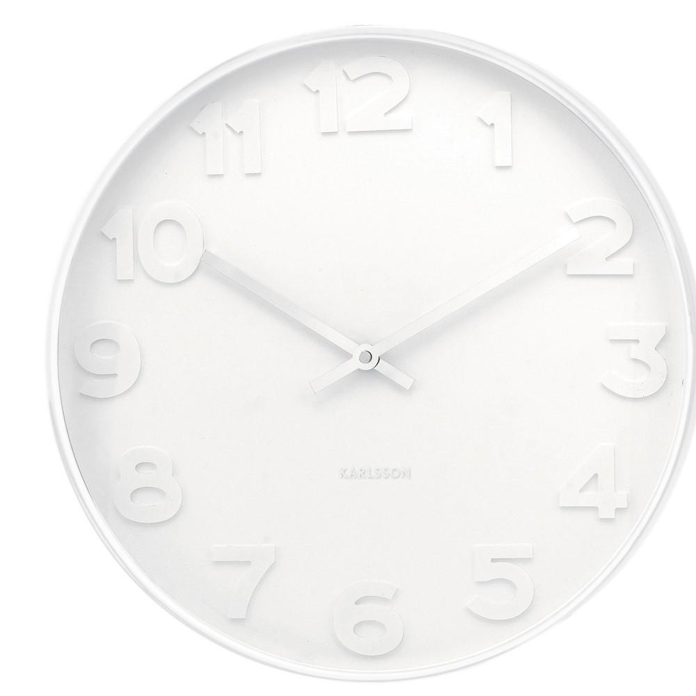 Biele hodiny Present Time Mr. White, malé