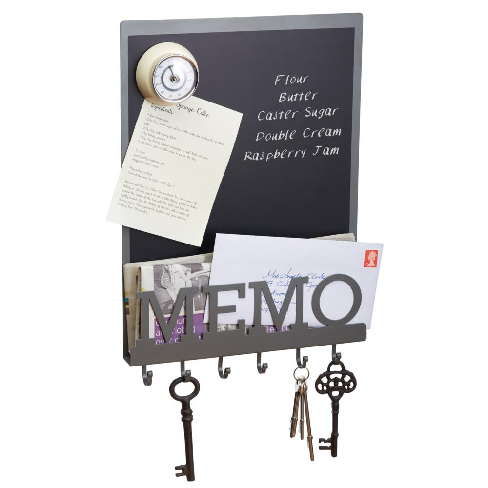 Tabuľa na písanie s háčikmi na kľúče Kitchen Craft Living Nostalgia