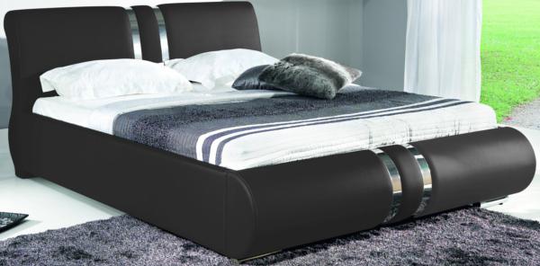 BOG-FRAN COMBI 160 posteľ s roštom - čierna