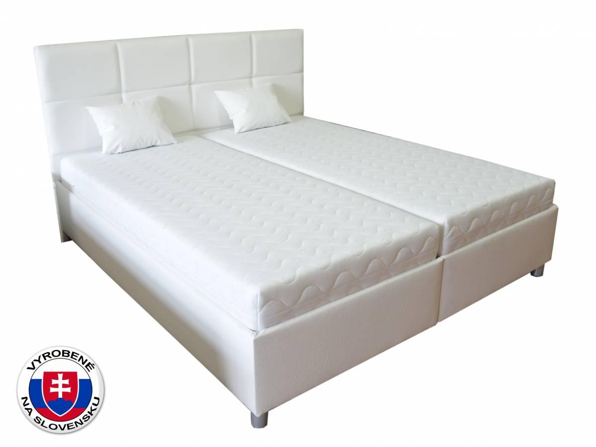 Manželská posteľ 160 cm Albatros (biela) (s roštami a matracmi)