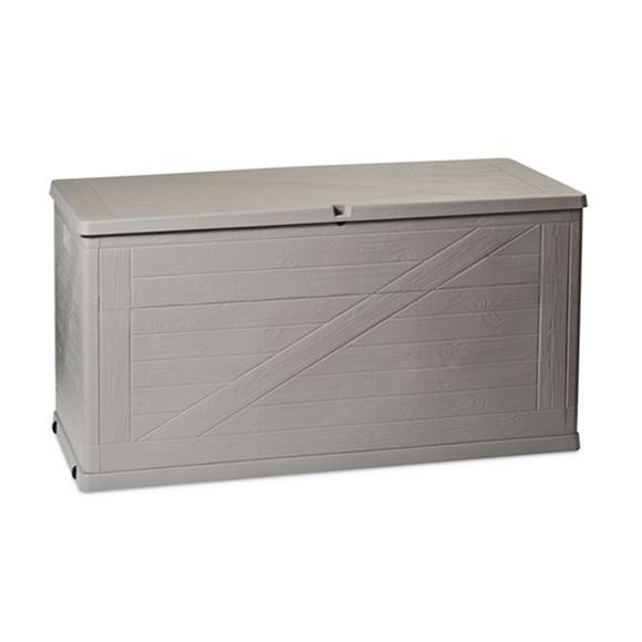 Wood záhradný úložný box 420 l sivá,