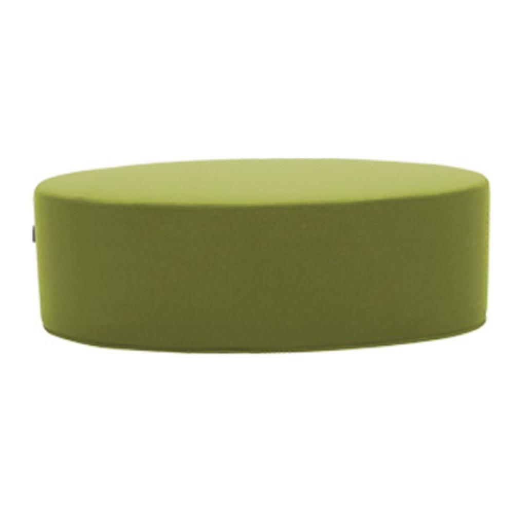 Zelený puf Softline Bon-Bon Felt Melange Lime, dĺžka 100 cm