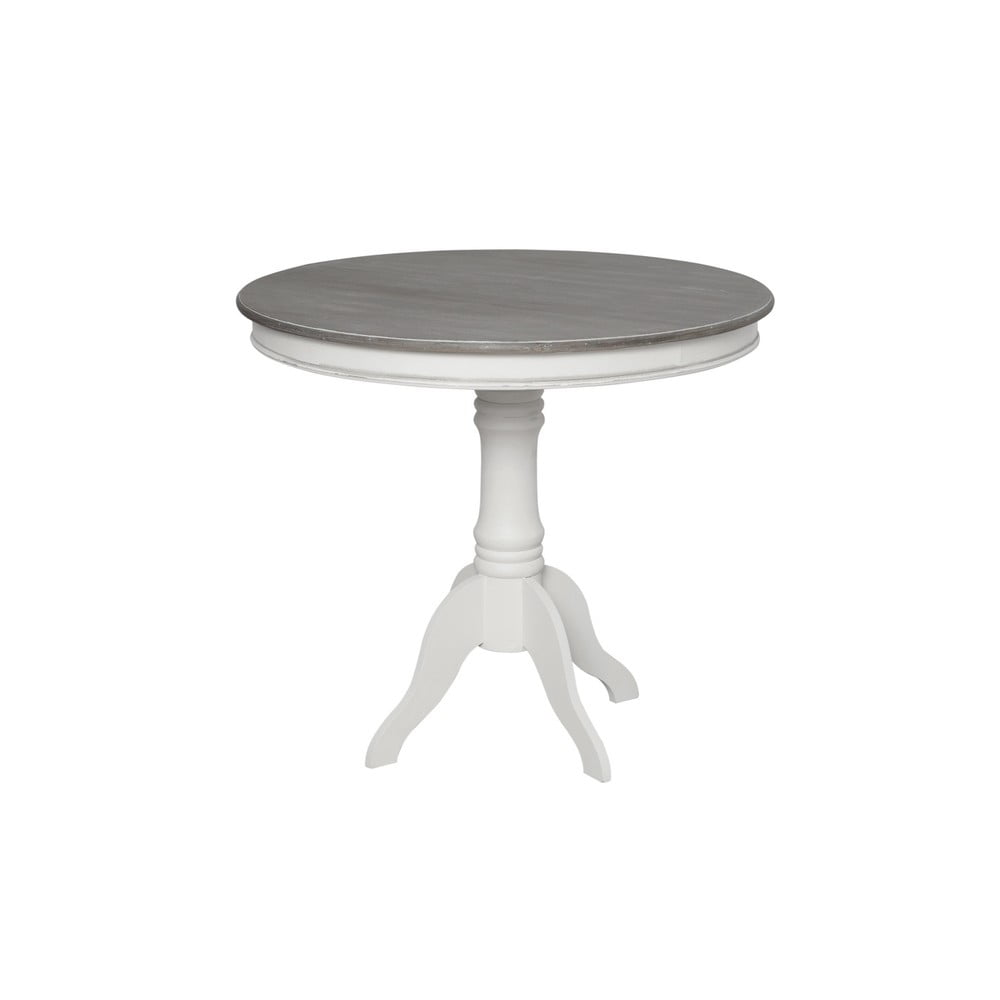 Biely jedálenský stôl z topoľového dreva Livin Hill Rimini, ⌀ 90 cm