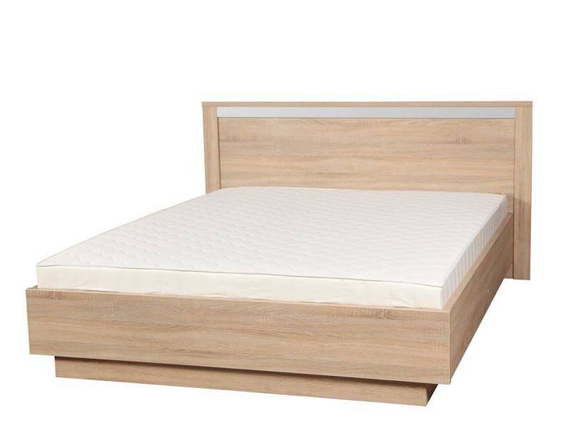 ALMOND posteľ 140 dub sonoma s roštom