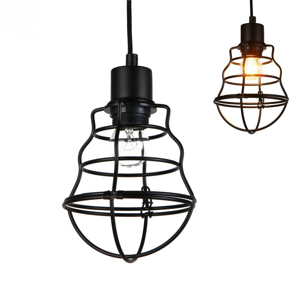 [lux.pro]® Dekoratívna dizajnová design závesná lampa / stropná lampa - čierna (1 x E27)