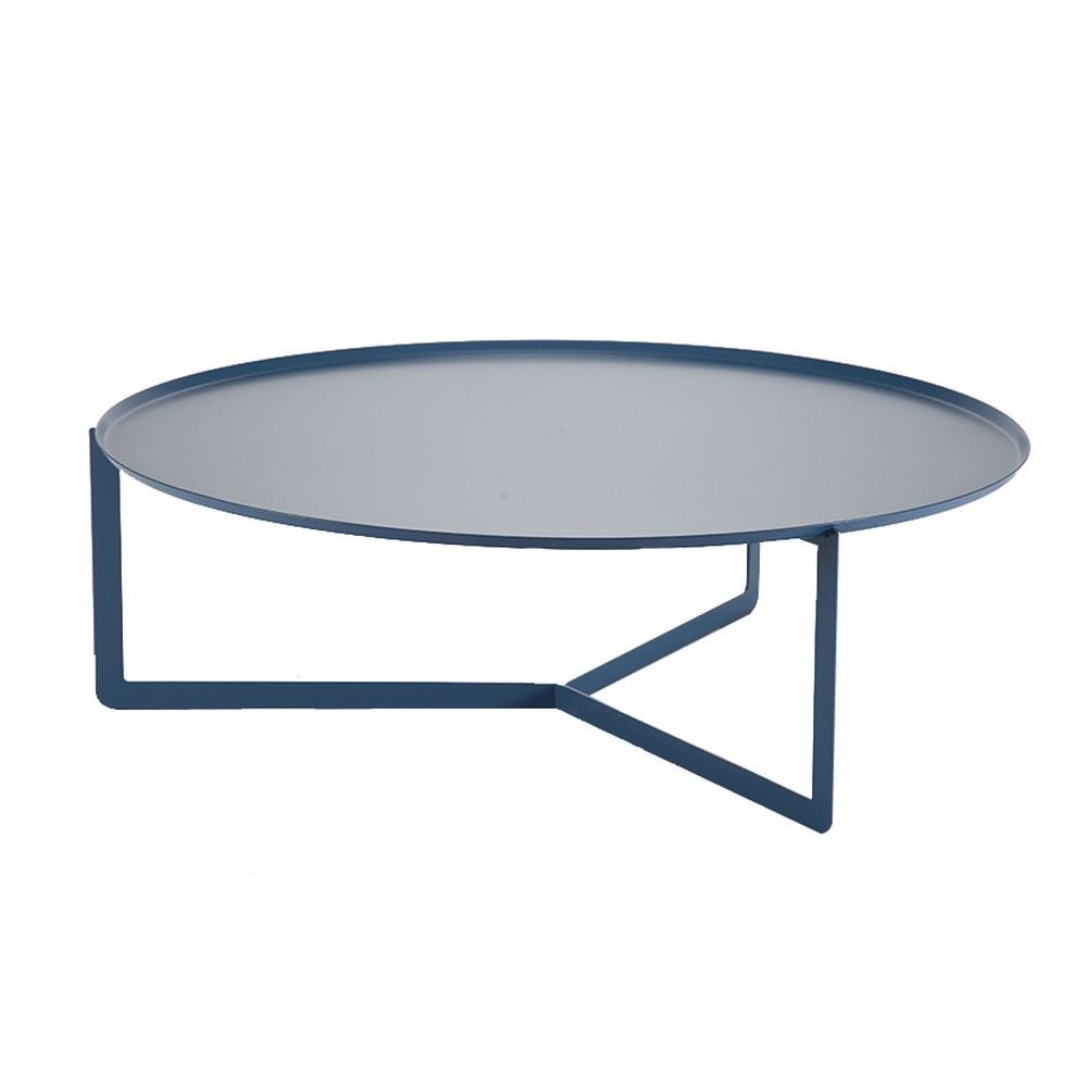 Petrolejovomodrý konferenčný stolík MEME Design Round, Ø 95 cm