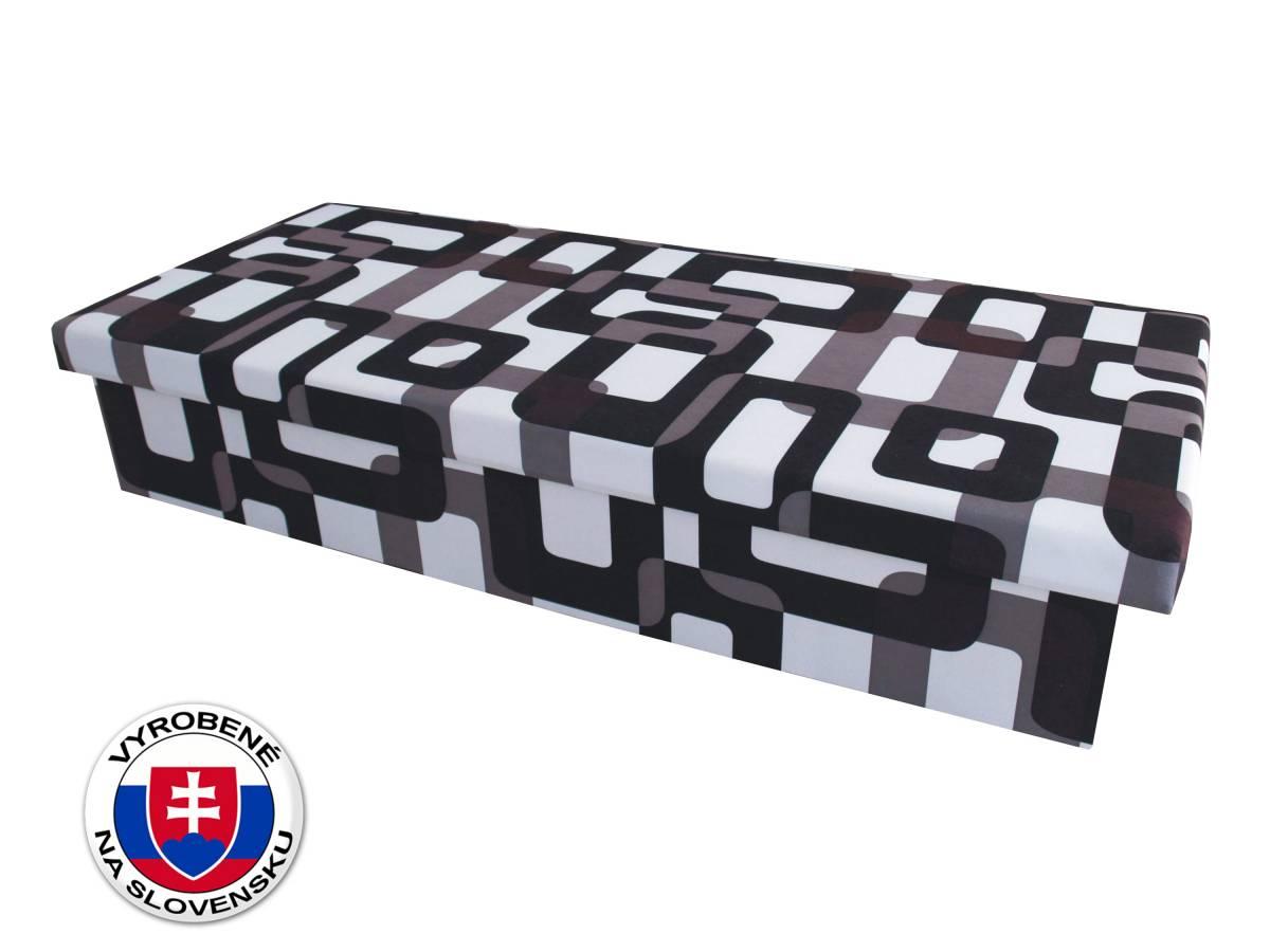 Jednolôžková posteľ (váľanda) 80 cm Benab Solo čiernobiela (s matracom)