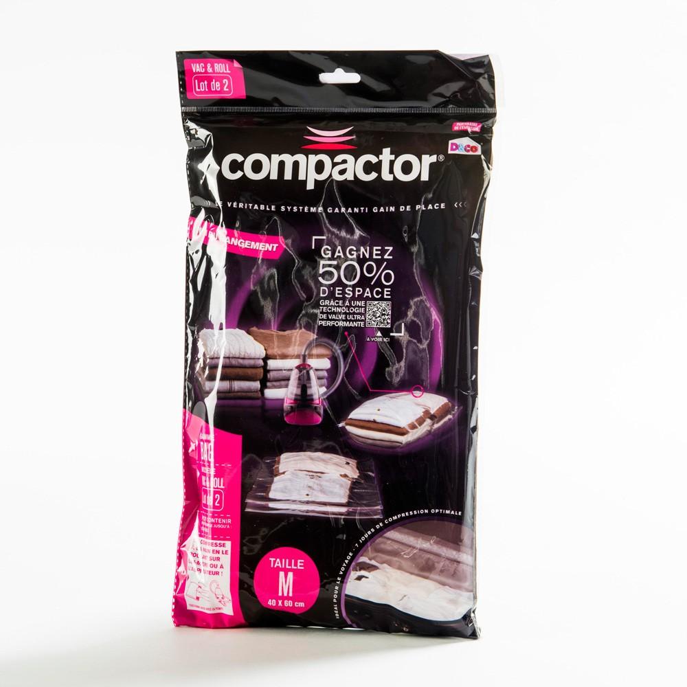 Vákuové obaly na oblečenie Compactor Clear M, 2 ks