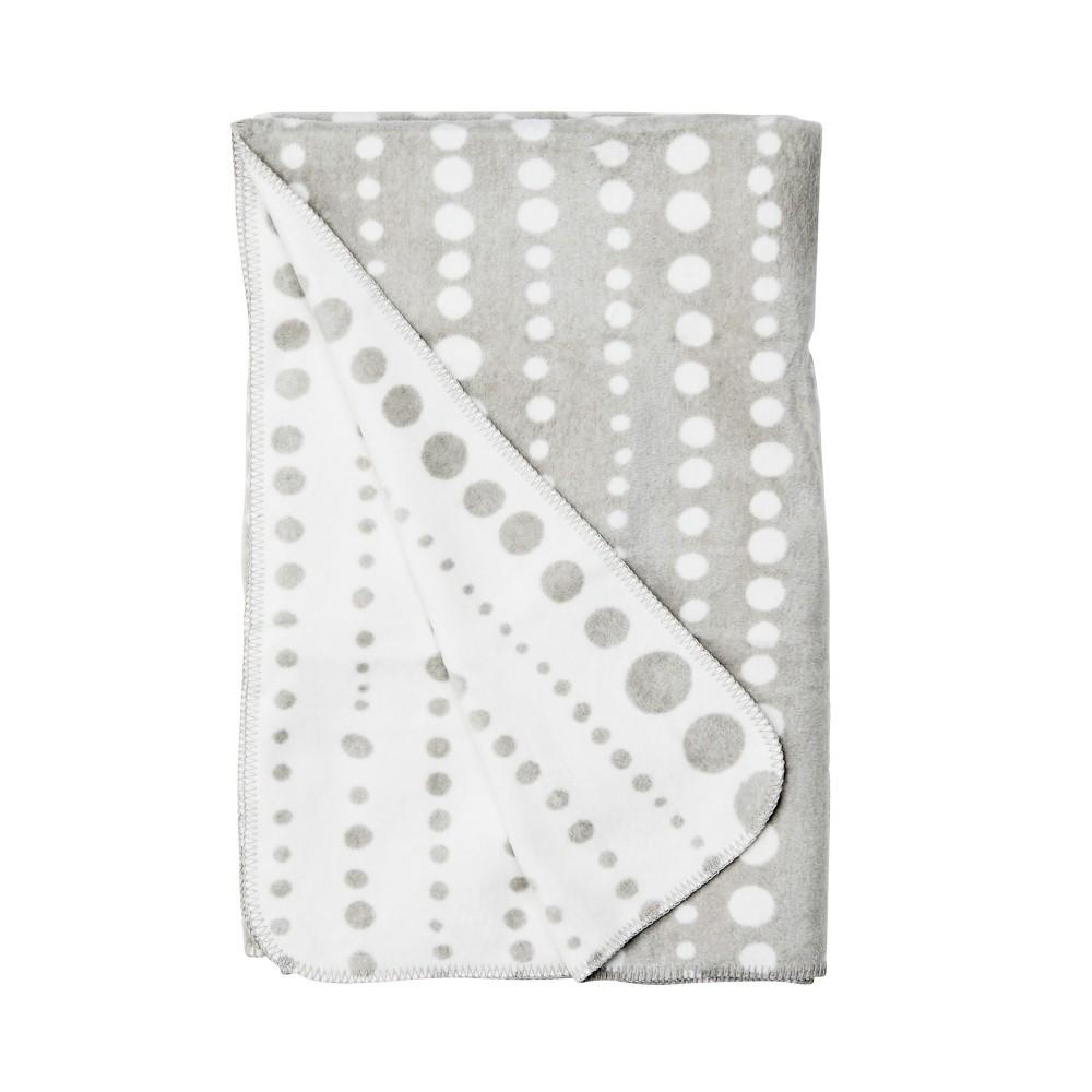 Sivo-biela bavlnená deka Butlers, 200 x 150 cm