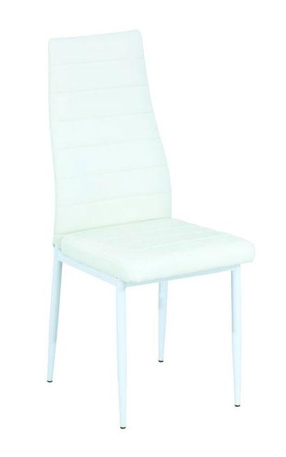 Jedálenská stolička VERME, biela/biela