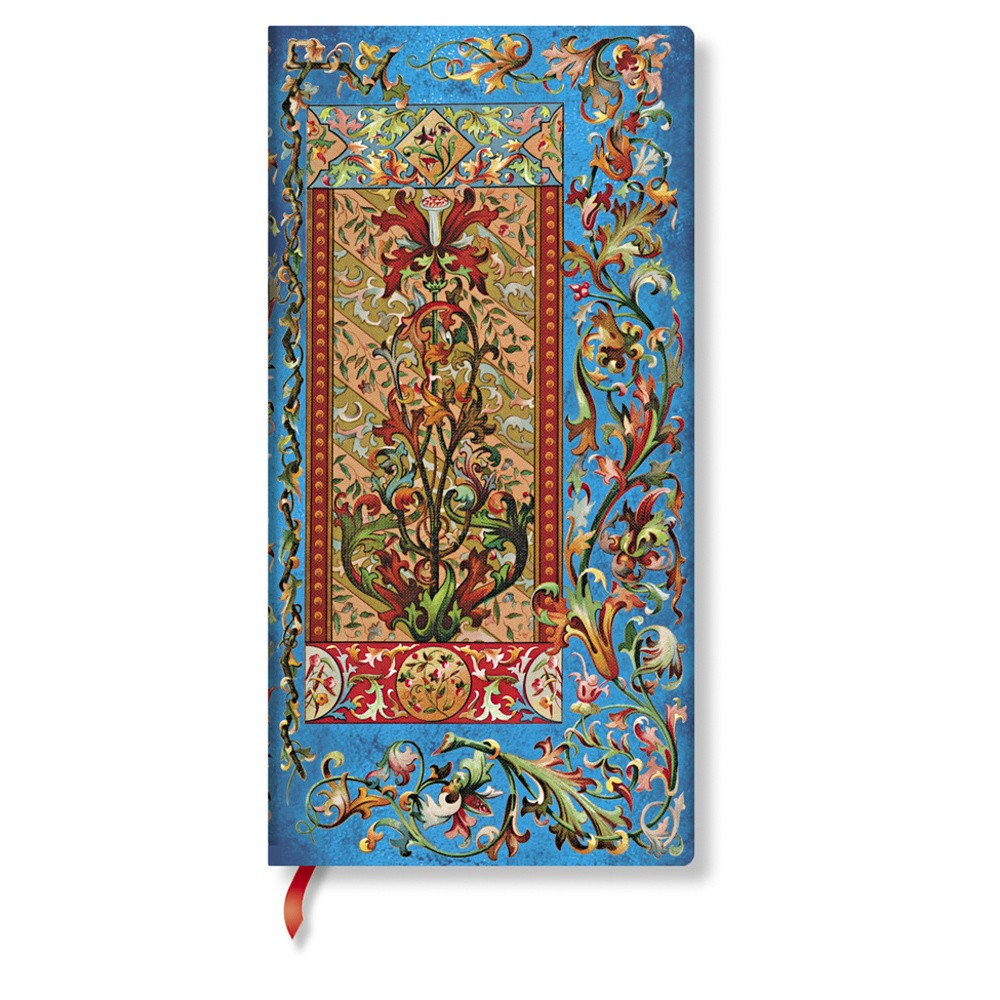 Zápisník s tvrdou väzbou  Paperblanks Delphine, 9 x 18 cm
