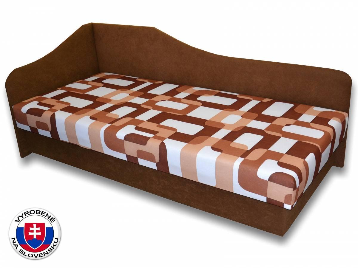 Jednolôžková posteľ (váľanda) 80 cm Lux 87 (Hnedá 13 + Gusto 11) (L)