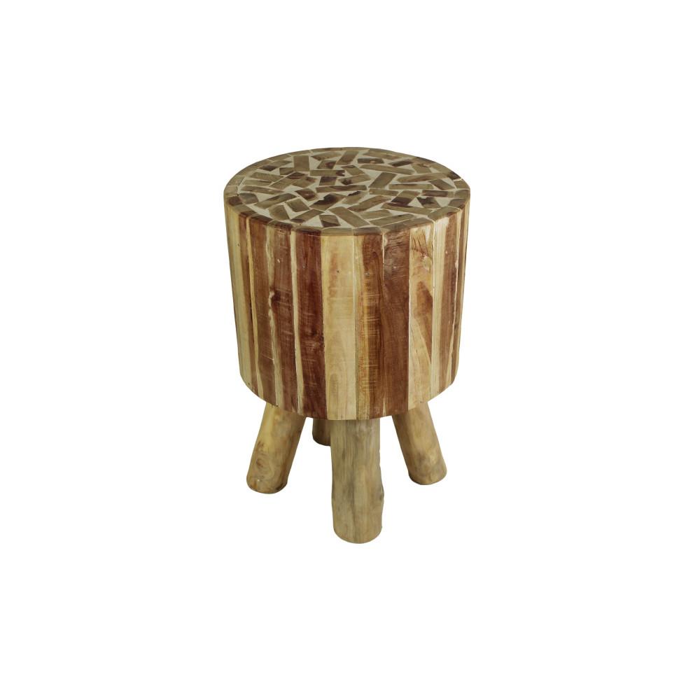 Stolička z teakového dreva HSM Collection Mozaik