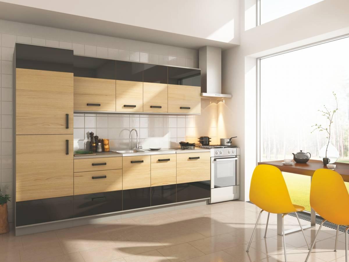 Kuchyňa SALOME 260S dub sonoma/čierna