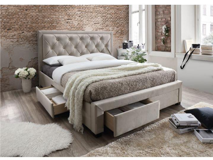 Manželská posteľ 160 cm Orea (s roštom) (sivohnedá)