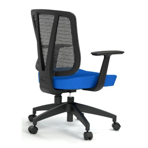 Rauman Kancelárska stolička Casa, modrá, opora chrbta sieťová čierna CASA NET B16