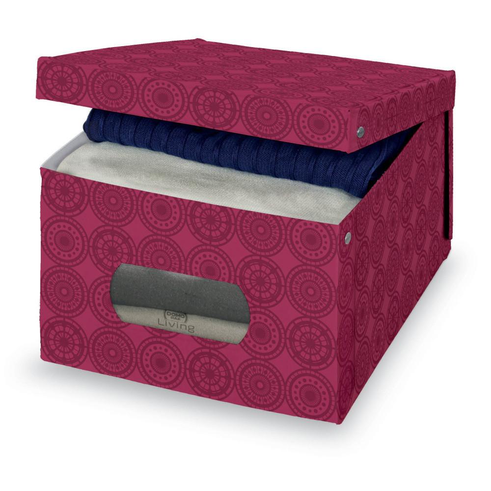 Fialový úložný box Domopak Ella, veľ. L