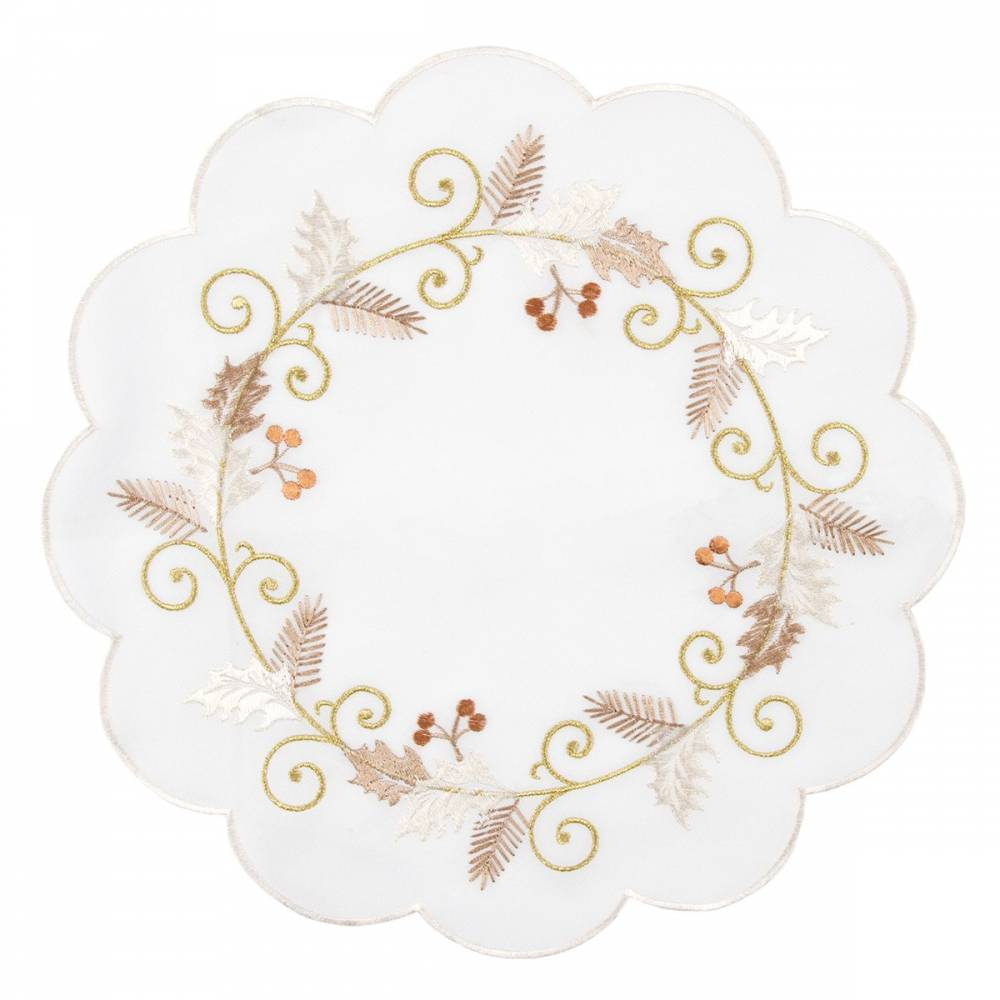 Forby Vianočný obrus Cezmína biela, pr. 35 , pr. 35 cm
