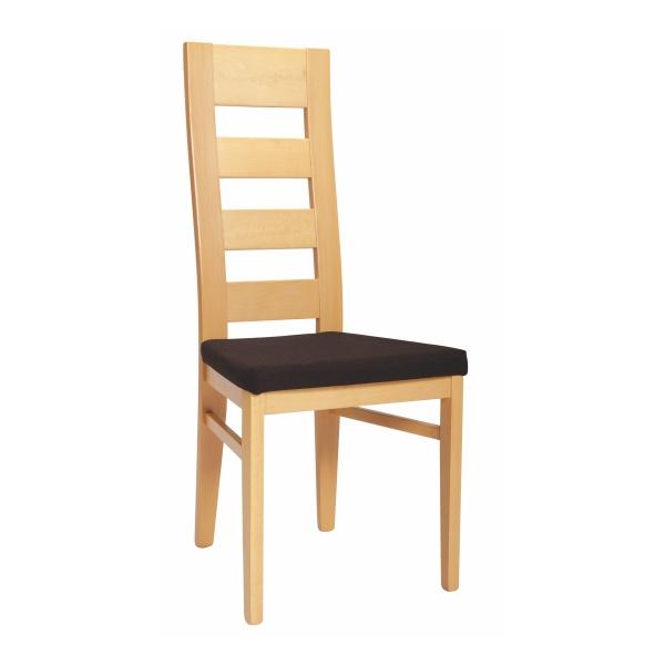 Drevená stolička FALCO s čalúneným sedadlom