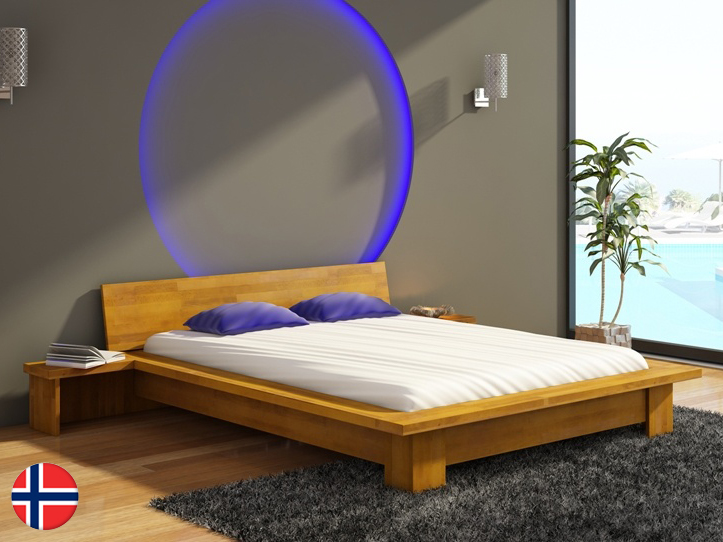 Manželská posteľ 180 cm Naturlig Boergund (buk) (s roštom)