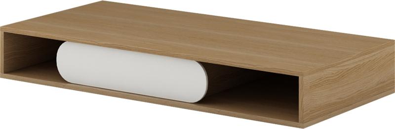 PC stolík Gusto G-09 (dub nova + biela) *výpredaj