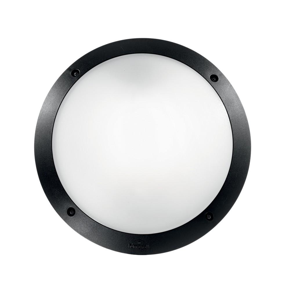 Čierne vonkajšie nástenné/stropné osvetlenie Crido Consulting Lumino