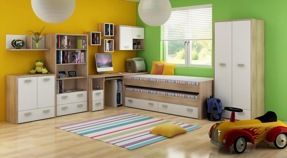 Detská izba KITTY 1   Farba: Dub sonoma svetlá / biela