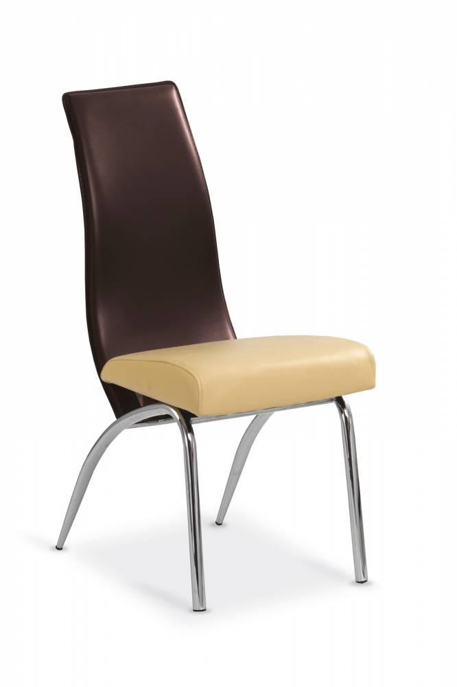 Jedálenská stolička K2 bezovo hnedá