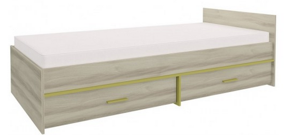 Detská posteľ GEOMETRIC 07 / BREST   Farba: Olivová