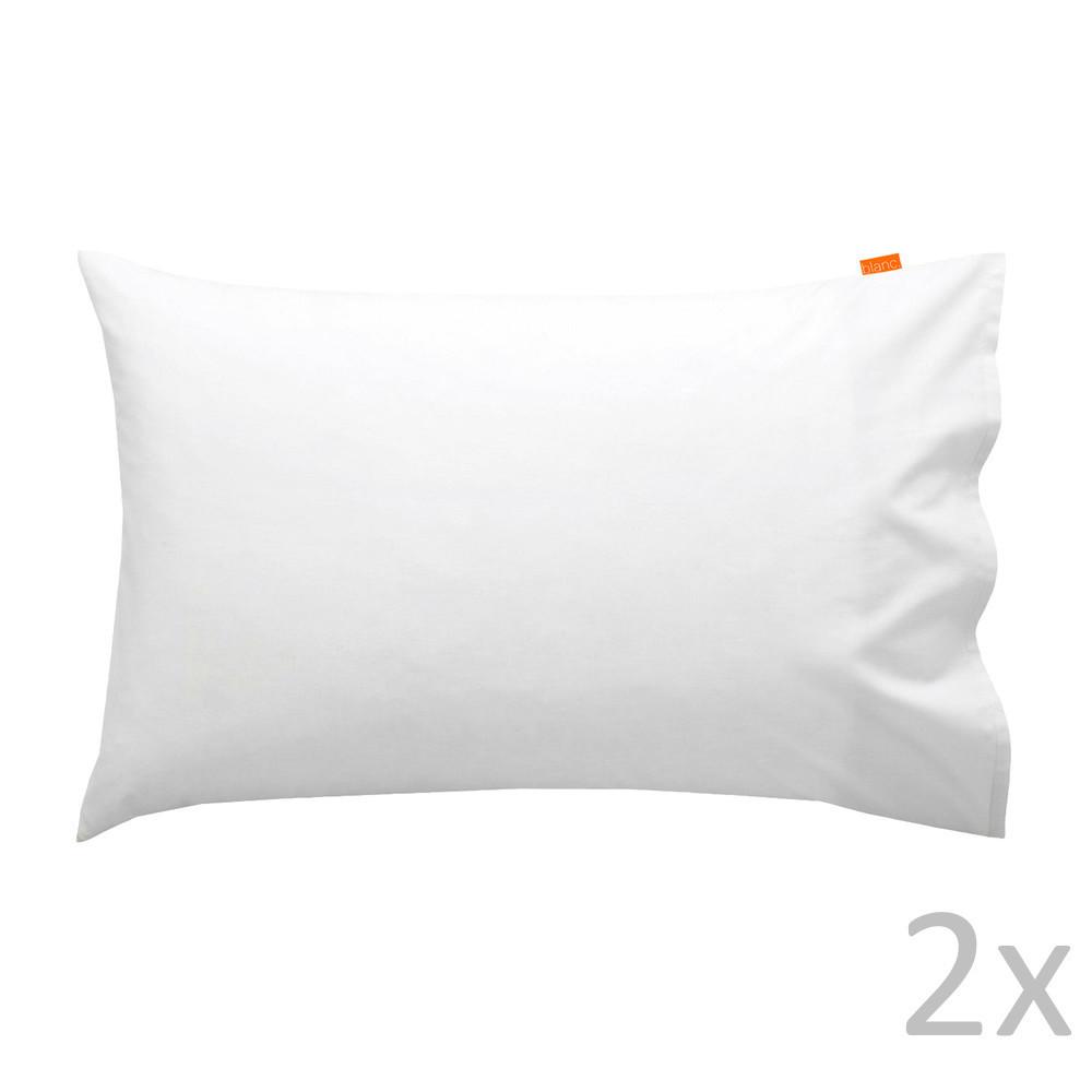 Sada 2 bielych obliečok na vankúš HF Living Basic, 50 x 80 cm