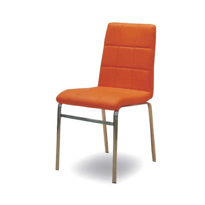 TEMPO KONDELA DOROTY NEW jedálenská stolička - oranžová ekokoža