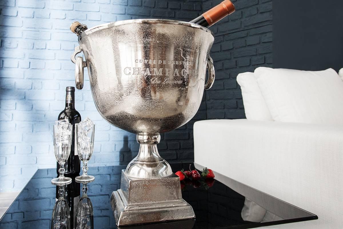 Bighome - Chladič na šampanské ROAL 40 cm - strieborná
