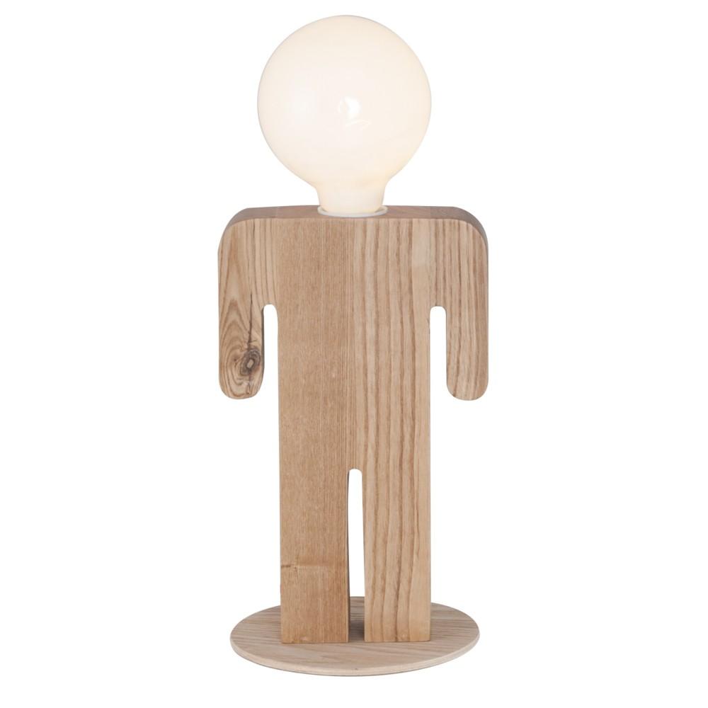 Drevená stolová lampa Christian