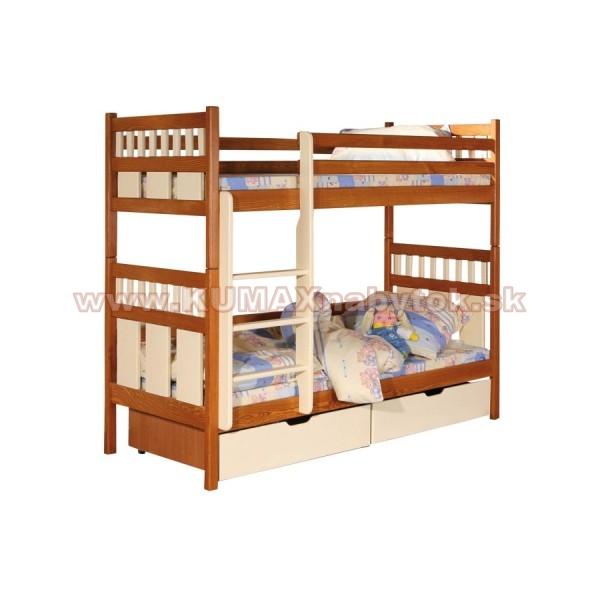 Poschodová masívna posteľ B401