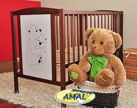 AMAL postieľka BAJKA bez zásuvky, orech