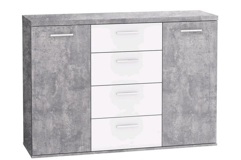 Winnie K26, sivý betón / biela