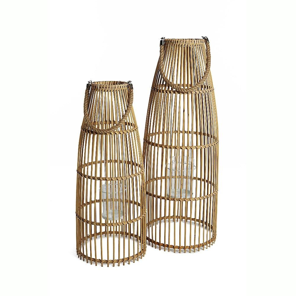 Sada 2 bambusových lucerien Simla Natural