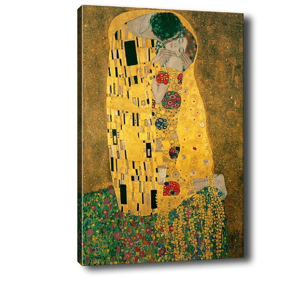 Obraz Tablo Center Klimt Kiss, 70 × 50 cm