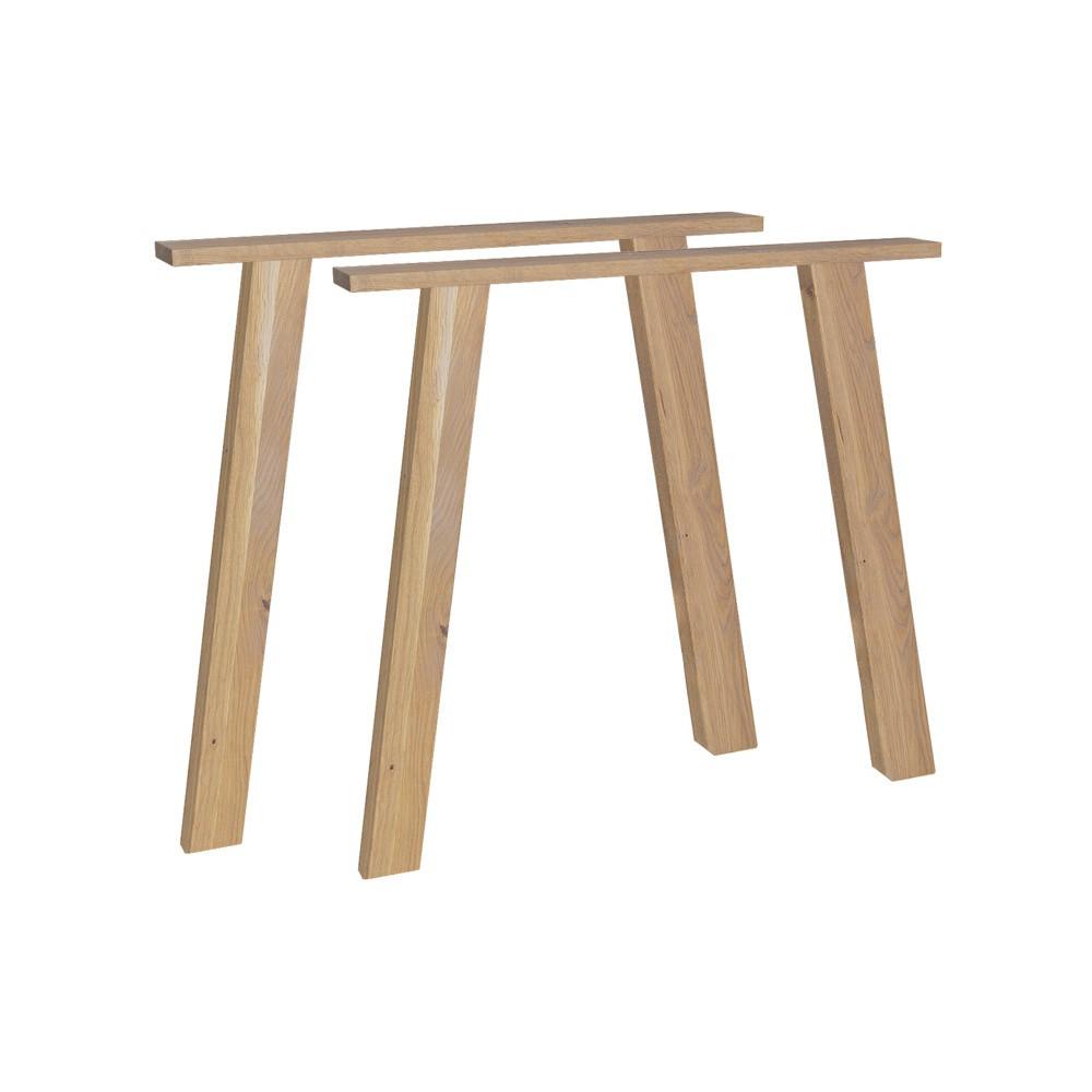 Podnož k jedálenskému stolu z dubového dreva vtwonen Outline
