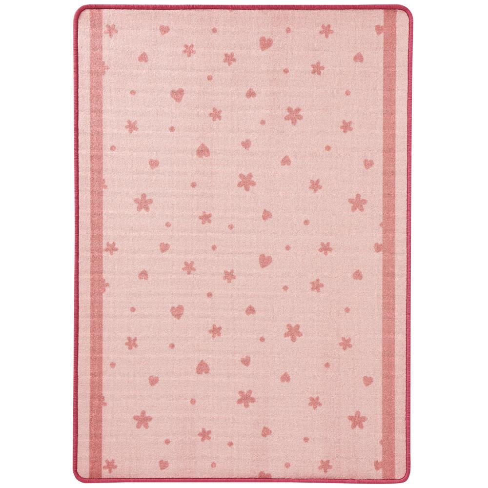 Detský ružový koberec Zala Living Luna Stars & Hearts, 100x140cm