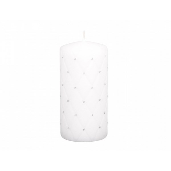 Dekoratívna sviečka Florencia biela, 14 cm