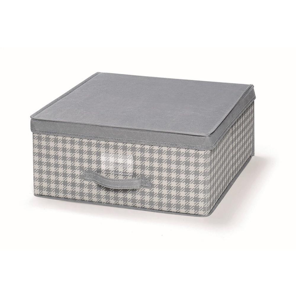 Sivý uložný box s vrchnákom Cosatto De Poule, 45 x 45 cm