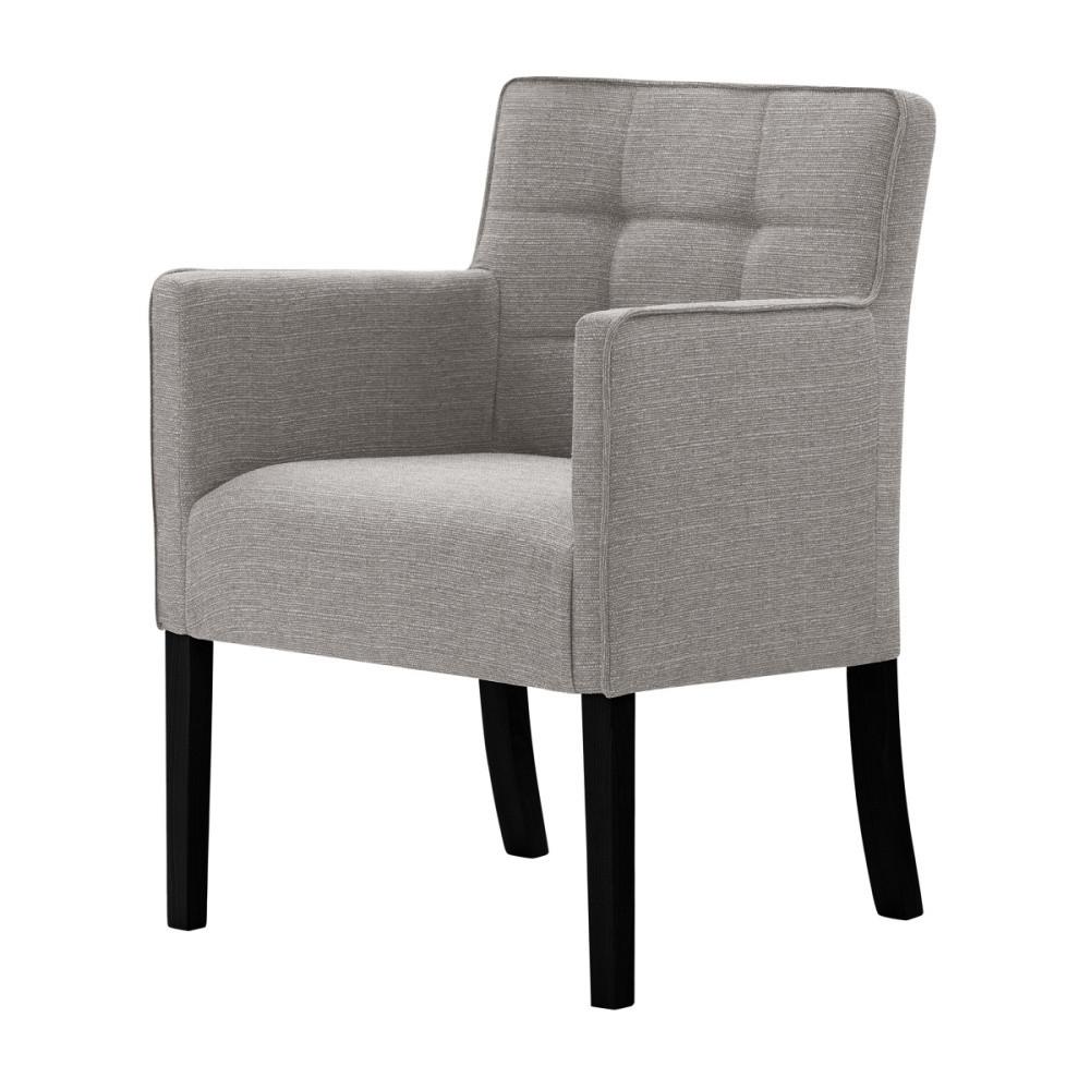 Sivo-hnedá stolička s čiernymi nohami Ted Lapidus Maison Freesia