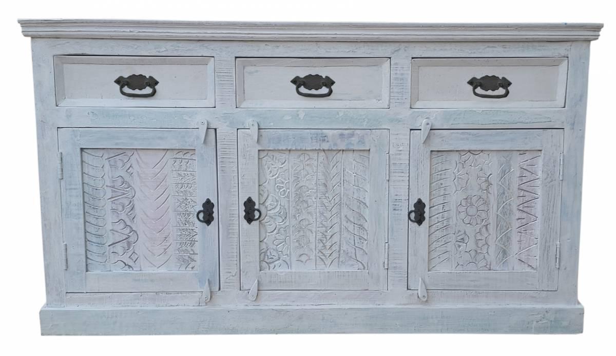 3-dverová komoda HARBOR - biela